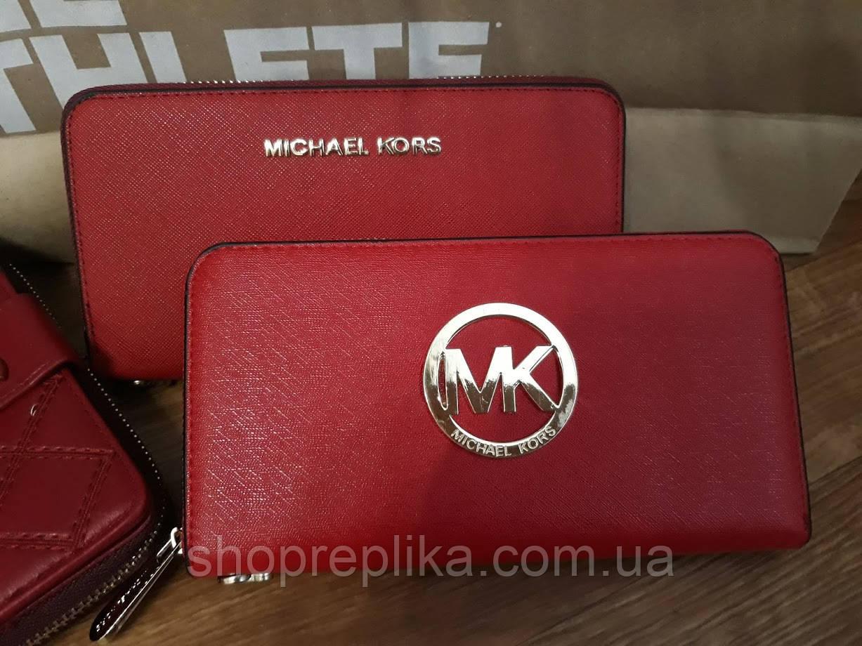 Кошелек МК Майкл Корс , Michael Kors экокожа красный с лого - Интернет  магазин любимых брендов 7d828375a85