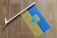 Флаг настенный, фасадный  (с лого и индивидуальным дизайном)