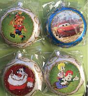 Игрушки на новогоднюю елку Шары  в ассортименте диаметр 5-6 см