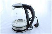Стеклянный электрочайник на подставке DOMOTEC MS 8110 Black (черный)