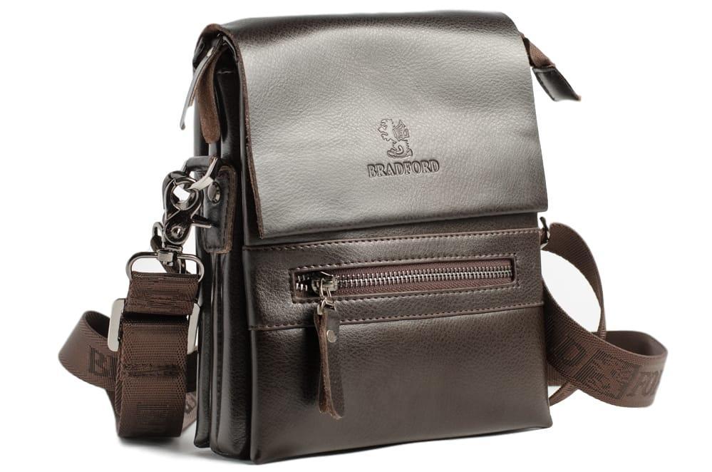 Небольшая мужская сумка Bradford 889-1 Brown