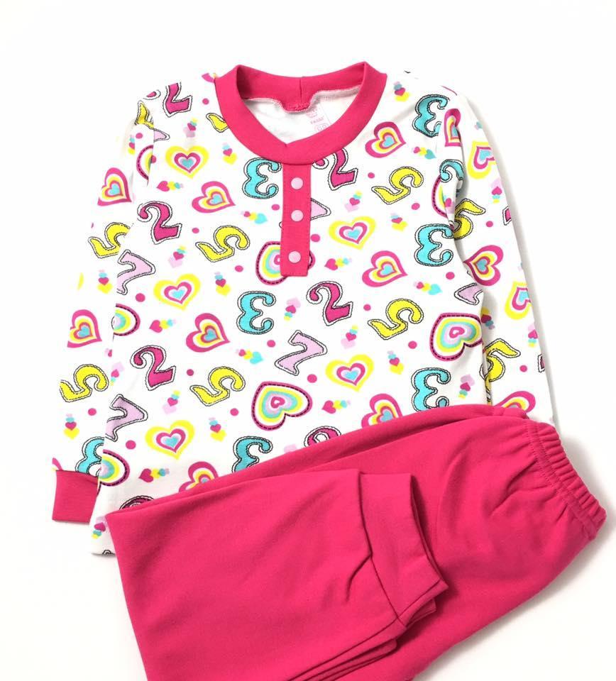 Пижама для девочки Цифры (р.104)