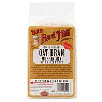 Bobs Red Mill, Смесь для приготовления маффинов на основе овсяных отрубей, с финиками и орехами, 24 унций (680 г)