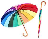 Зонт радуга от 10 штук опт с логотипом, зонт с цветными клиньями