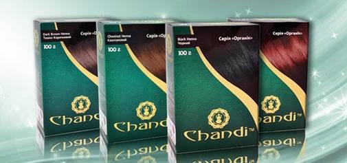 Краска для волос Chandi. Серия Органик. Каштановый, 100г, фото 2