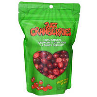 Karens Naturals, Замороженная и обезвоженная клюква, Just Cranberries, 1.5 унций (42 г)