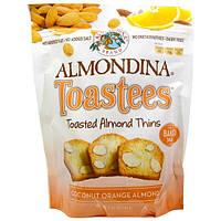 Almondina, Toastees, миндальные чипсы, с кокосом, апельсином и миндалем,5.25 унций (149 г)