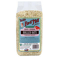 Bobs Red Mill, Organic Quick Cooking Rolled Oats, Whole Grain, 16 oz (453 g)