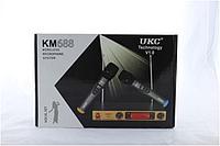 Микрофон  DM  UKC-688  Профессиональная радио система с двумя без проводными микрофонами и гарнитурой