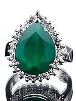 Кольцо серебряное с агатом