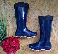 Резиновые сапоги Леди Утепленные синий 36р