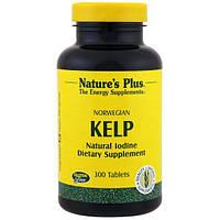 Келп норвежский  300 таб органический йод для щитовидной железы Nature's Plus