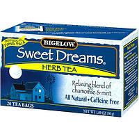 Bigelow, Травяной чай Сладкие сны, без кофеина, 20 чайных пакетиков, 1,09 унц. (30 г)