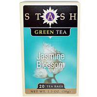 Stash Tea, Цветок жасмина, зеленый чай, 20 чайных пакетиков, 1,3 унции (38 г)