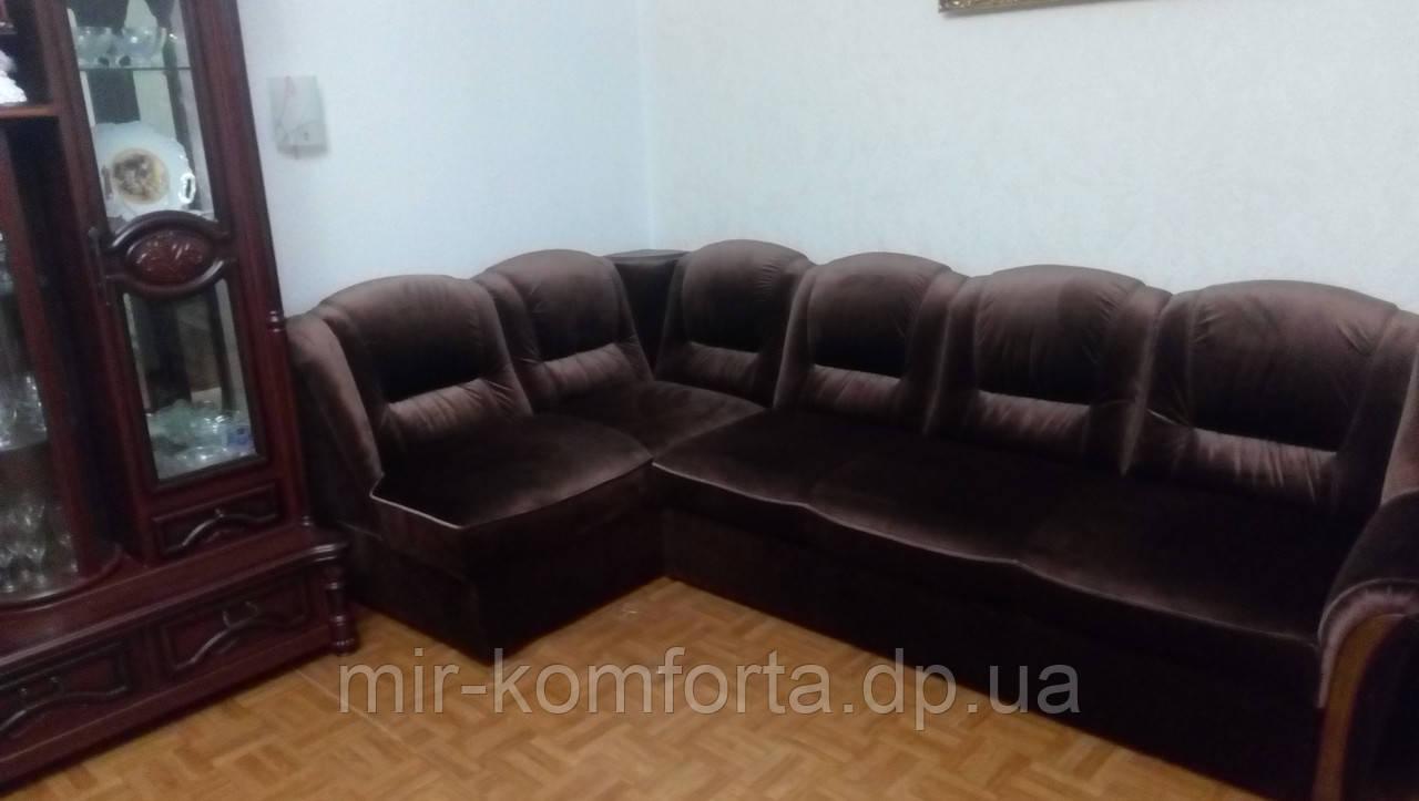 Замена мебельной ткани углового дивана