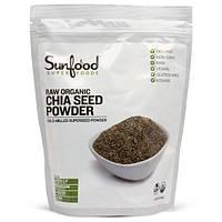 Sunfood, Порошок семян чиа, сырой, органический, 1 фунт (454 гр)