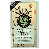 Triple Leaf Tea, Чай белый пион, 20 пакетиков, 38 г