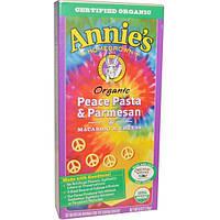 Annies Homegrown, Органические макароны с сыром, Паста с пармезаном Peace, 6 унций (170 г)