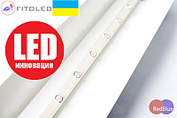 Фито LED Светильник биспектральный (для рассады) 40Вт 950мм 17led/m 45mill 660/450нм красный/синий-5/12 IP67 220V