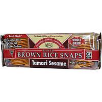 Edward & Sons, Хрустящее печенье из коричневого риса с соевым соусом и кунжутом, 3,5 унции (100 г)