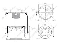 Пневмоподушка 1DK28F-5 с мет.стаканом Schmitz 017685 Aignerr AG506149K, фото 1