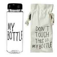 CUP Бутылка с чехлом  My bottle 360  Черный, 500 мл