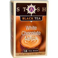 Stash Tea, Черный чай высшего сорта, белый шоколад и мокко, 18 чайных пакетиков, 1,2 унции (36 г)