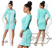 Элегантное женское платье (кукуруза, кружево, рукава 3/4, длина до колен, круглая горловина) РАЗНЫЕ ЦВЕТА!
