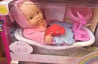 Пупс It's a baby в ванночке с аксессуарами