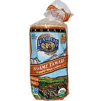 Lundberg, Органические рисовые хлебцы, кунжутный соевый соус, 255 г