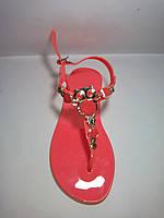 Летние босоножки женские (силиконовые) с украшением 35-40 рр.