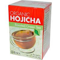 Eden Foods, Органический ходзитя, жареный зеленый чай, 16 чайных пакетиков,24 г