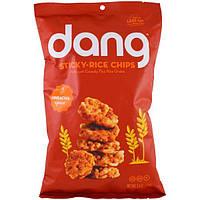Dang Foods LLC, Чипсы из клейкого риса, шрирача, 3,5 унций (100 г)