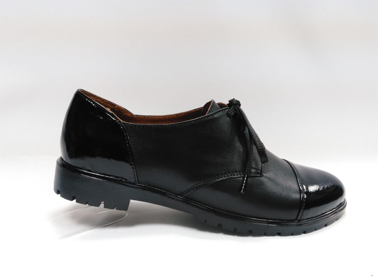 Кожаные  туфли  со шнурками  Украина.