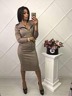 Элегантный женский костюм с пиджаком