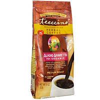 Teeccino, Средиземноморский травяной кофе, средней обжарки, миндаль  амаретто, без кофеина, 11 унций (312 г)