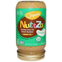 Nuttzo, Органическое масло из семи видов орехов и семян, гладкое, оригинальное, 16 унций (454 г)