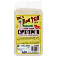 Bobs Red Mill, Органическая цельная пшеничная мука грубого помола, 24 унции (680 г)
