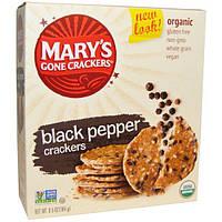 Marys Gone Crackers, Органические крекеры с черным перцем, 6,5 унций (184 г)