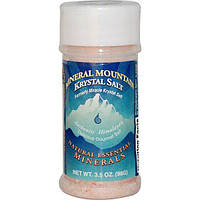 Klamath, Горная соль Mountain Krystal с минеральными элементами, 3,5 унции (98 г)