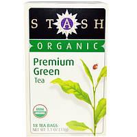 Stash Tea, Органический зеленый чай высшего сорта, 18 чайных пакетиков, 1,1 унции (33 г)