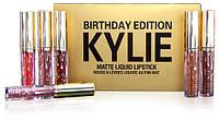 Набор жидких матовых помад 6 в 1 Kylie Birthday Edition