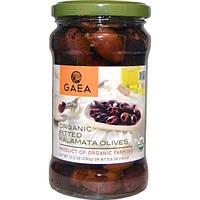 Gaea, Органические оливки Каламата без косточек, 10.2 унций (290 г)