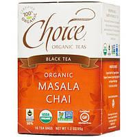 Choice Organic Teas, Черный чай, органический чай масала, 16 пакетиков, 1,2 унции (35 г)