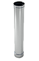 Труба дымохода  1м, 0,8 мм Ø120 нержавеющая сталь AISI 304