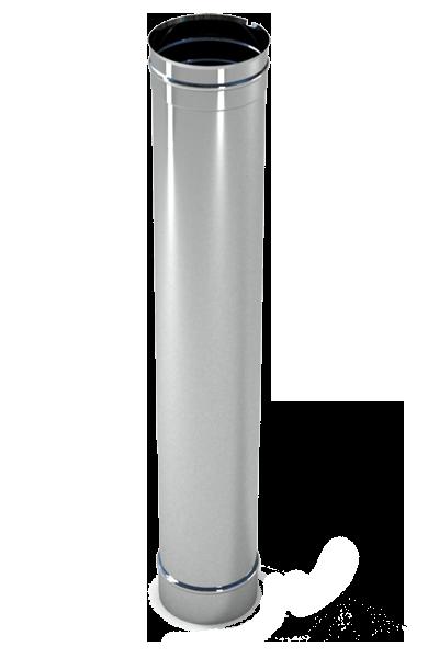 Труба дымохода  1м, 0,8 мм Ø130 нержавеющая сталь AISI 304
