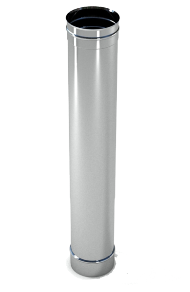 Труба дымохода  1м, 0,8 мм Ø160 нержавеющая сталь AISI 304