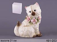 Статуэтка Кошка 21 см фарфор 461-053