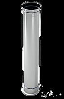 Труба дымохода  1м, 0,8 мм Ø300 нержавеющая сталь AISI 304