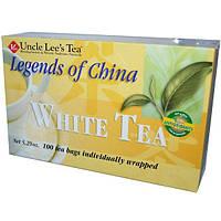 Uncle Lees Tea, Легенды Китая, белый чай, 100 пакетиков, 5,29 унции (150 г)